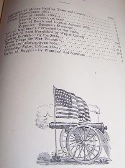 1884 Antique CIVIL War Military History Wayne County Ny Palmyra Sodus Newark