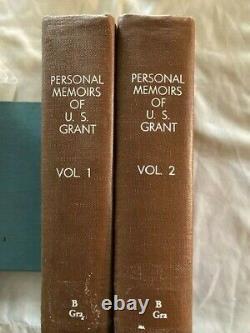 1885 Antique Books PERSONAL MEMOIRS OF U. S. GRANT 2 Volume Set CIVIL WAR