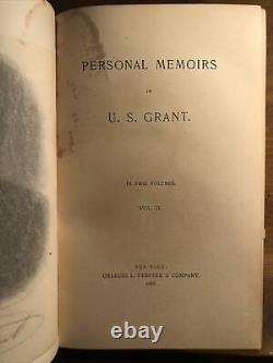 1885 Personal Memoirs Of U. S. Grant 2 Vol Set Civil War