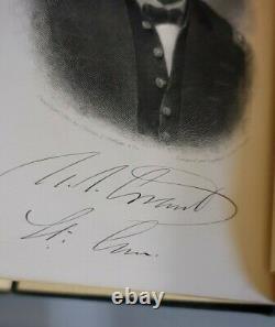 1885 Personal Memoirs Of U. S. Grant 2 Volume Set Civil War with stamped sign
