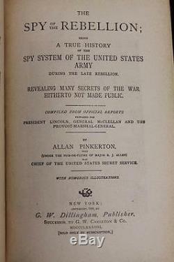 1888 The Spy of the Rebellion Civil War SECRET SERVICE Abe Lincoln ASSASSINS