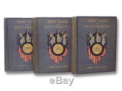 1900 Gettysburg Military New York NY Regiment American Civil War Battle 3V Set