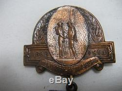 1913 NY Gettysburg Civil War Reunion Medal 50TH ANNIVERSARY OF GETTYSBURG