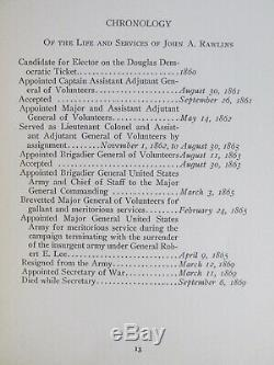 1916 Wilson THE LIFE OF JOHN A. RAWLINS Rare Civil War Bk NEALE PRESS U. S. Grant