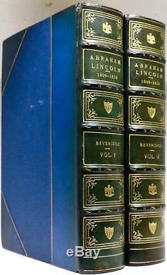 1928 1stED Abraham Lincoln By Albert J. Beveridge CIVIL WAR Riverside Press Fine