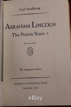 1941 Abraham Lincoln Prairie Years War Years Civil War Sangamon Edition Fine