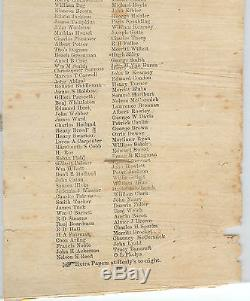 2 Mos Before Civil War's End Ridgeway NY List of 140 Men To Be DRAFTED BROADSIDE