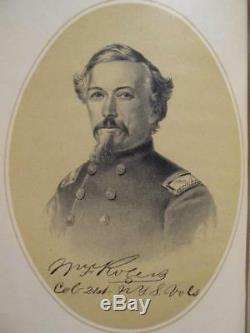 21st REGIMENT NEW YORK STATE VOLUNTEER INFANTRY 1887 CIVIL WAR IN MYLAR DJ
