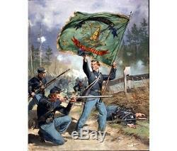37th New York Volunteers, Irish Rifles Civil War Canvas Giclee by Don Troiani