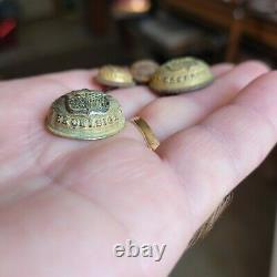 4 Vintage Civil War dug mixed coat button lot Union Excelsior New York NY