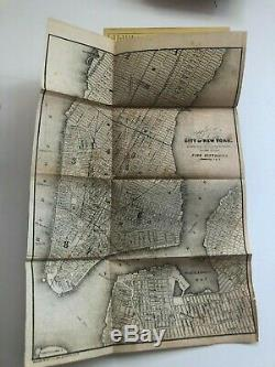 7 pre-Civil War travel guides to NEW YORK CITY some with maps, Daguerreian adverts