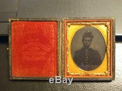7008-Civil War soldier ambrotype Troy NY Schoonmaker 282 River Street