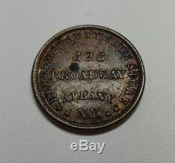 Albany New York Civil War Token Straight's Shoe Store Elephant In Boots