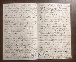 Antietam Civil War Graphic Battle Letter 60th New York Infantry John Stevens