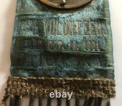 Antique 1901 American Civil War NY Regiment Col. Wheelock Reunion Badge