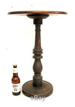 Antique 19th C. Candle Stand Civil War Era with1863 NY Draft Riots Note Affixed