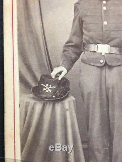 Antique CDV Photo Armed Civil War Soldier 24th NY Cavalry Sword Jordan Syracuse