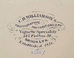 Antique CIVIL War Era Draft Dodger Or Fugitive Slave Act Brooklyn Ny CDV Photo