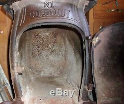 Antique CIVIL War Era S H Ransom Co Cushion 16 Box Stove Pat 1861 Albany Ny L