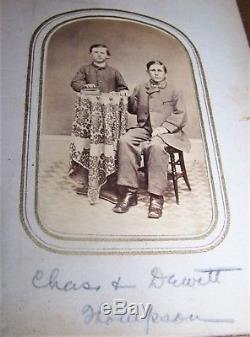Antique CIVIL War Sword Solder Photo Album Hobart College Geneva Ny Thompson