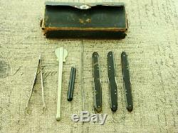 Antique CIVIL War W F Ford Ny Surgeons Folding Scalpel Knife Instruments Knives