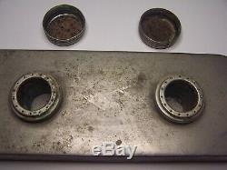 Antique Civil War Era Alcohol Oil Double Burner Burrows Metal Mfg Co NY