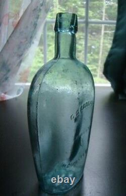 Antique Civil War Period C. C. GOODALE RCOHESTER, N. Y. Historical Whiskey Flask