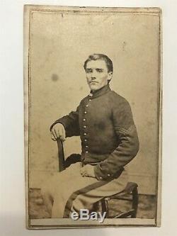 Antique Civil War Soldier From 160th New York Infantry Album Rochester Cdv Photo