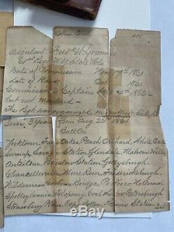 Antique Civil War Wallet Union Solider Fred Grannis Gettysburg Antietam 61st NY