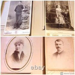 Antique Photo Album Civil War Era IOWA Philadelphia New York Tax Stamps IDd ppl