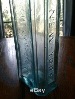 Antique Pre Civil war RUSHTON CLARK & Co // CHEMIST// NEW YORK open pontil, 10