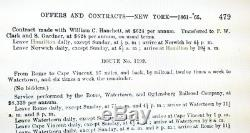 Antique Rare Civil War Era U S Mail Herkimer County NY Gilded P. W. CLARKE Sign