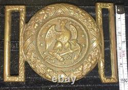 Antique US Navy Officer's Sword Belt Buckle Henry V. Allien NY POST Civil War