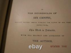 Antique, c 1877, OUR COUNTRY by Benson Lossing, Civil War, 1st Edition, 3 Vol