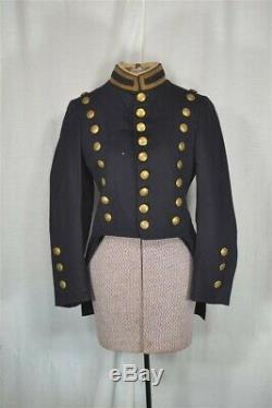 Antique military uniform jacket Cadet NY MA Civil War Ear 19th c original 1880