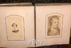 Antique photo album and CDVs civil war and later Philadelphia New York