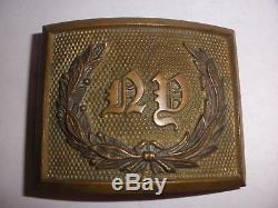 Antique post Civil war NY New York Militia Belt Buckle Ridabook & co NY