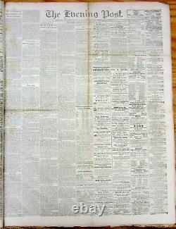 August 1865 bound volume NY Evening Post newspapers CIVIL WAR & RECONSTRUCTION