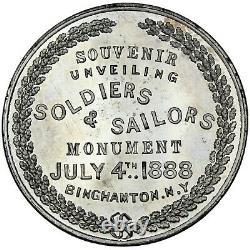 BINGHAMTON NEW YORK Civil War 1888 white metal Medal/So-Called Dollar Not in HK
