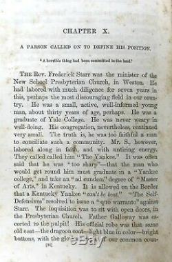BLEEDING KANSAS BORDER Nebraska Bill SLAVERY Civil War Rebel Missouri Compromise