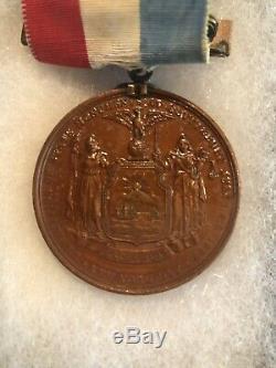 Battle Of Gettysburg 1863 NYS Civil War Veterans Medal Ribbon, New York