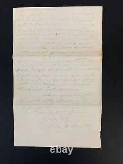 Battle of the Crater Civil War Letter Describing Wound New York Vols Petersburg