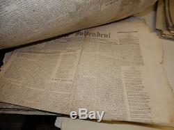 Big Collection CIVIL War Newspapers The Independent Ny 1861-66 101 Issues