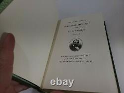 Book Set PERSONAL MEMOIRS of U. S. GRANT VOL. 1 & 2 CIVIL WAR Leather Bound