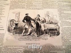 Bound New York Ledger 1858 Newspaper Pre Civil War One Full Year Great Read N/R