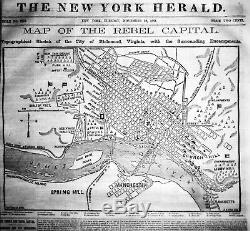 Bound THE NEW YORK HERALD, October 1 thru December 31,1861 Civil War free s&h