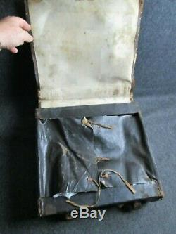 C. 1860s CIVIL WAR UNION LEATHER INFANTRY BACKPACK HAVERSACK 13TH NY G. W. VARIN