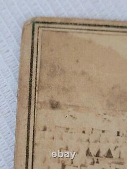 CDV Photo Elmira Civil War Prison 64th NY Colonel TJ Parker Signed Inscription