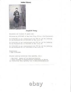 CIVIL WAR CDV ARMED SOLDIER/CAPTAIN I. D. J. B. YOUNG 7th NEW YORK INFANTRY