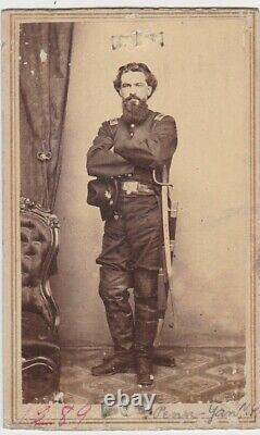 CIVIL WAR CDV SOLDIER/OFFICER with SWORD 134 NEW YORK